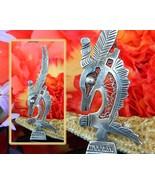 Vintage Antelope Gazelle Chi Wara Chiwara Headdress Silver Brooch Pin - $52.95