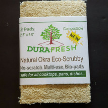 2 DuraFresh Natural Okra Eco-Scrubby - One 2 Pack Eco-Responsible Tough ... - $7.49