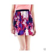 Joe Fresh Soft Print Pull-On Purple Flare Skirt New Size XL Msrp $34.00 - $12.99