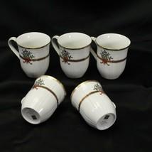 """Mikasa Christmas Garden Mugs 4"""" Lot of 5 - $58.79"""