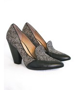 Loafer Pumps Heels Belle by Sigerson Morrison Haircalf & Leather Shoes  ... - $77.22