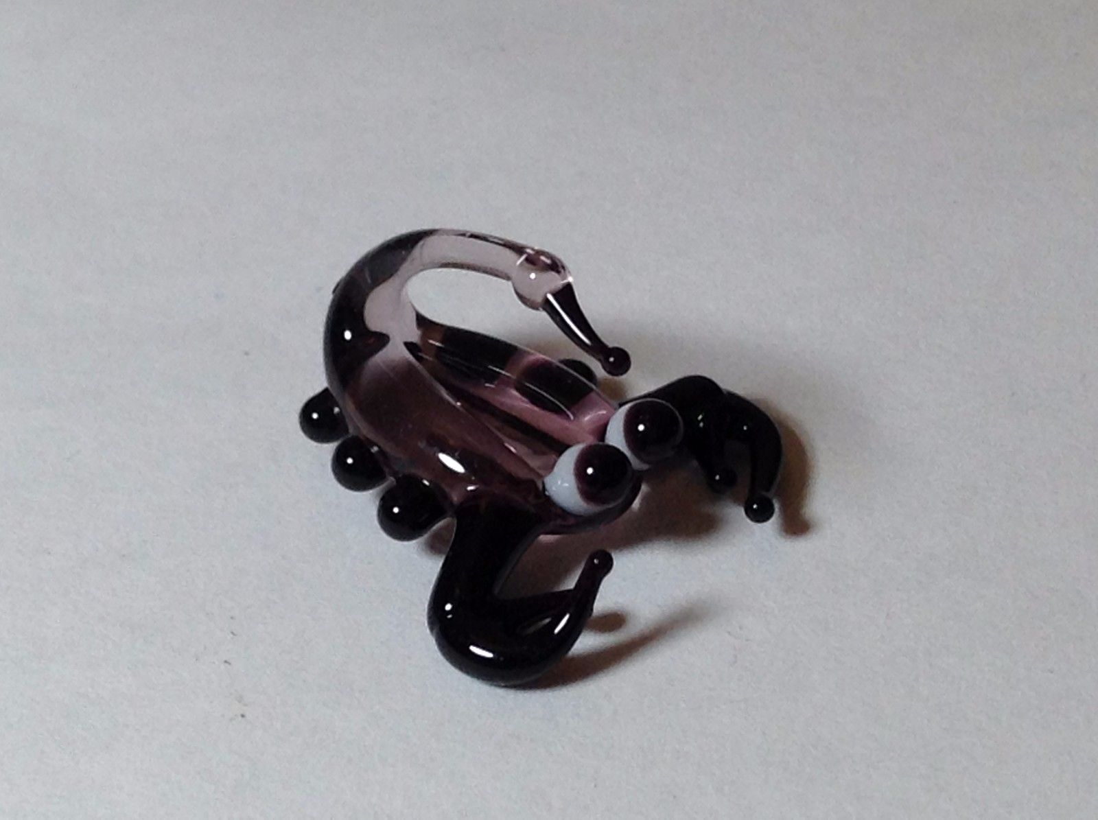 Miniature Glass purple Scorpion  Handmade Blown Glass Made USA
