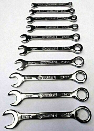 Kobalt 23450-23459 10 Piece Metric Midget Combination Wrench Set USA - $9.90