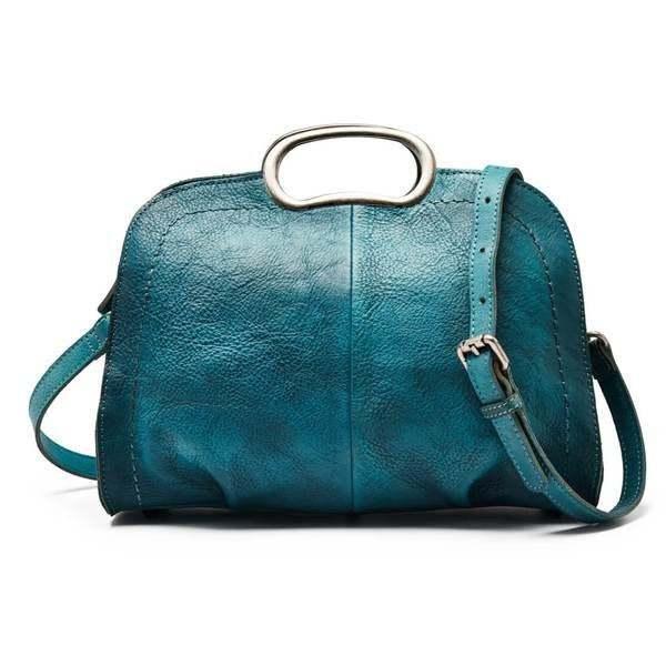 Sale, Vegetable Tanned Leather Satchel Bag, Handmade Women Bag, Designer Leather image 6