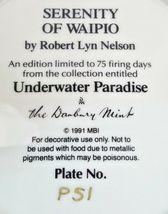 Danbury Mint Underwater Paradise Serenity Of Waipio Plate 1991 Robert Lyn Nelson image 5