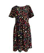 NWOT LuLaRoe Disney Amelia Hidden Mickey Mouse Floral Dress Black Size 3XL - $34.64