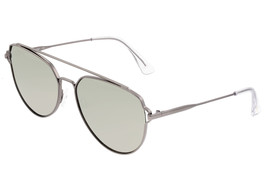 Sixty One Nudge Polarized Sunglasses - Gunmetal/Silver - $215.00