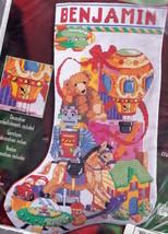 Bucilla Christmas Toys Robot Horse Spaceship Cross Stitch Stocking Kit 8... - $62.95