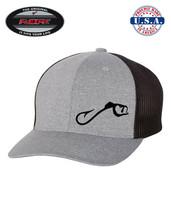 FISH FISHING HOOK Trucker Cap FLEXFIT HAT *FREE SHIPPING in BOX* - $19.99