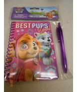 New Paw Patrol Best Pups Ever stationery set w/ purple pen Stocking Stuf... - $5.53