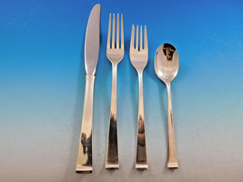 Theme by Gorham Sterling Silver Flatware Set for 12 Service 54 pcs Modern - $3,250.00