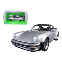 1974 Porsche 911 Turbo 3.0 Silver 1/24 Diecast Model Car by Welly 24043s - $29.91