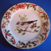 C Mockingbird Salad Desert Plate American Atelier Christmas Woodland - $25.82