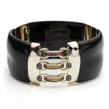 Alexis Bittar Corset Hinged Crystal Stud Lucite Bracelet - $186.99