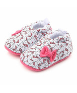 NEW Hello Kitty Baby Girl White Pink First Walker Soft Sole Crib Shoes S... - $7.99