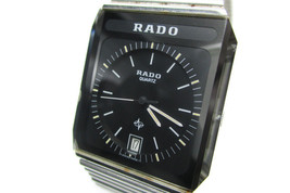 Auth RADO Black Dial, Date Stainless Steel Women's Quartz Watch RW11674L - $189.00
