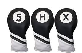 Funda Cabezal Golf Blanco y Negro Cuero Style 5 , X, H Calle Híbrido Fun... - $38.84