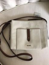 "Fossil ""Gemma Crossbody"" Coconut /Brown Hand Bag SBH1938146 Retail $148 - $79.50"