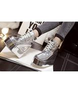 84064 elegant Martin wedge booties, heels inside, Size 4-8.5, silver - $58.80
