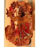 Riding in rath traditional scene leather shadow puppet collectible india... - $660.25
