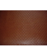MOORE & GILES 34.20 SQ FT ADOBE EMBOSSED BASKET COWHIDE LEATHER UPHOLSTERY - $121.97