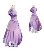 Disney Adult Women First Princess Sophia Sofia Dress Cosplay Costume - $115.45