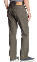 Levi's 501 Men's Original Fit Straight Leg Jeans Button Fly Brown 501-1890 image 3