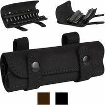 BronzeDog Genuine Leather Ammo Holder Hunting Accessories .22 Cal Shotgun - $18.19