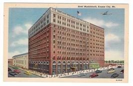 Kansas City Missouri Hotel Muehlebach MO Airplane Vintage Linen Postcard - $4.99