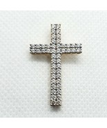 PAJ Sterling Silver 925 Gold Vermeil CZ Cross Pendant Free Shipping - $15.99