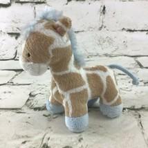 "Koala Baby Mini 4"" Giraffe Plush Brown Blue Soft Stuffed Animal By Toys R Us - $9.89"