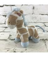 "Koala Baby Mini 4"" Giraffe Plush Brown Blue Soft Stuffed Animal By Toys ... - $9.89"