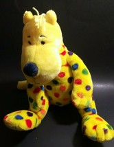 Kohls Cares Put me in the Zoo Yellow Polka Dot Spots Dog Plush Toy Dr Seuss - $9.87