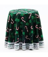 Dollhouse Chrysnbon Skirted Christmas Table Tree CB123G Candy Canes Mini... - $9.95
