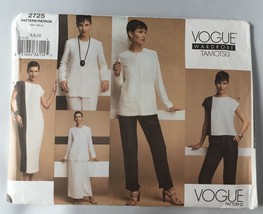 Tamotsu Vogue Pattern 2725 Misses & Petite Jacket Skirt Dress Top Pant 6... - $9.65