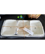 Rae Dunn Numbered Dishes W/Tray 1, 2, 3 RARE Discontinued, NEW! - $68.99