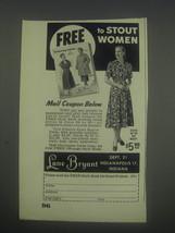 1953 Lane Bryant Fashion Advertisement - Free to Stout women - $14.99