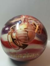 14 lbs, NOS NIB Bowling Ball Brunswick Viz-A-Ball MARINES, undrilled, n... - $139.32