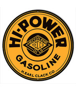Hi Power Gasoline Reproduction Motor Oil Metal Sign 30x30 Round - $100.98