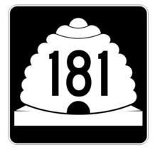 Utah State Highway 181 Sticker Decal R5497 Highway Route Sign - $1.45+