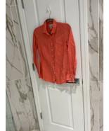 J. Crew Women's Coral Perfect Shirt Button Up Top 100% Linen Size 00 - $14.93