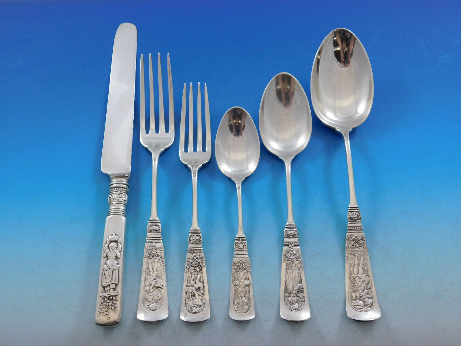 Primary image for Fontainebleau by Gorham Sterling Silver Flatware Set 12 Service 81 pcs Dinner