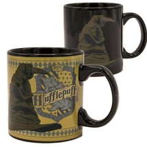Harry Potter Sorting Hat Hufflepuff 20oz Heat Color Change Mug Black - $21.98