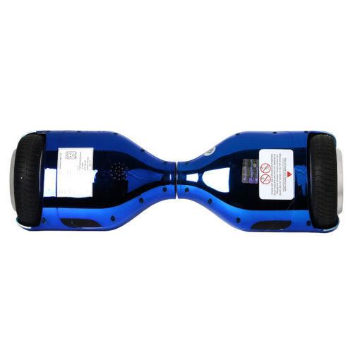 "Chrome Blue Hoverboard LED's Bluetooth Speaker 6.5"" UL2272"