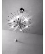 Solid brass mid century chandelier atomic urchin starburst pendant fixtu... - $299.00