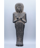 Unique ancient egyptian ushabti Vintage carved stone made in egypt - $149.00