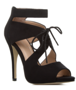 NEW ShoeDazzle Akua in Black Oxford Inspired Heel US Size 6 - $31.25