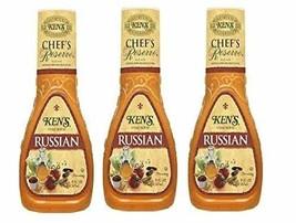 Ken's Steak House Chef's Reserve Russian Dressing Pack of 3 9 oz Bottles