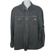 Harley-Davidson Motorcycle Long Sleeve Button-up Embroidered Shirt XXL B... - $44.54
