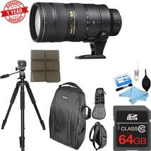 Nikon AF-S Nikkor 70-200mm f/2.8G ED VR II Lens w/ 64GB MC|C.K |Tripod |... - $2,177.01